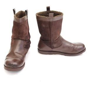 Lands' End Suede Cozy Warm Boots - Size 7M / EUR39